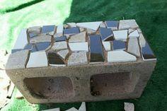 mosaic cinder block planter..