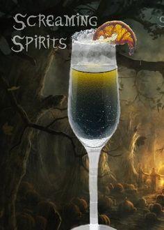 Screaming Spirits (made with black vodka)