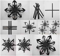 black DIY snowflake
