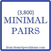 Minimal Pair Words for Speech Therapy