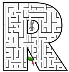 Free Printable Maze for Kids | Uppercase Letter R