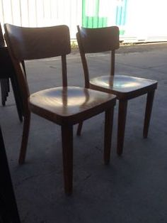 Thonet Rombus Timber Cafe Dining Chairs stacking   Dining Chairs   Gumtree  Australia Port Phillip  Recycled timber dining table  railway sleepers  with chairs  . Dining Table Chairs Australia. Home Design Ideas