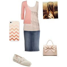 Untitled #98 by abbyrice2000 on Polyvore featuring polyvore, fashion, style, Full Tilt, TOMS and Forever New