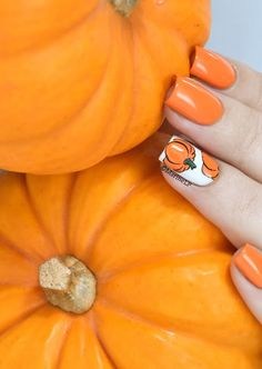 Nailstorming - Gourmandise d'Automne - pumpkin nails