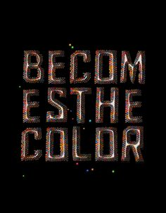 Becomes the color by NastPlas , via Behance