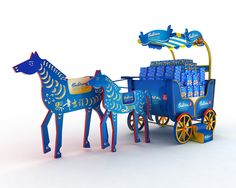 horse on Behance #display #POS