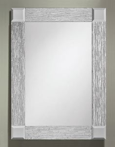 359 – Rectangle Frameless Mirror features a clear mirror with a 3″ wide Silver Cotswold mirror overlay border and clear beveled mirror corners. 24″ wide, 34″ high and 1/2&#8…