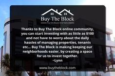 THE FIRST BLACK-OWNED REAL ESTATE CROWDINVESTING WEBSITE IS ON THE MOVE – NO STOPPING US NOW! Link--> buytheblock.com #BUYTHEBLOCK