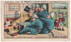 Trade Card Collection 024 - Le Page's Liquid Glue - Front.