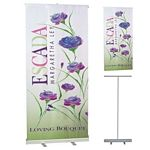 Customized 33 x 79 Economy Retractable Banner Stand Set | Promotional Display Banners | Trade Show Display Banners