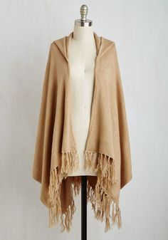 Upstate Swank Shawl in Tan From The Plus Size Fashion Community At www.VintageAndCurvy.com