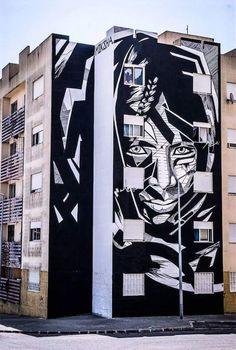 """Moksha - """"Through your soul""""  for Loures Arte Publica 2016  Loures, Portugal #streetart  Photo via Fernando Zarcos"""