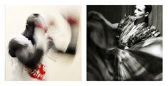 Diptyque photos au format 29x29 mat - Cadre 52x72 - Photo Gauche : Taylor Mabika dans les vestiaires s'échauffe en shadow avant le combat de la défense de sa ceinture de champion d'Afrique ABU (African Boxing Union) contre Ekeng Henshaw le 24 mai 2014 au Gymnase du Prytanée Militaire de Libreville Gabon - Photo Droite : Clarisse Hieraix Défilé Haute Couture « Parade amoureuse » 21.04.2013 au Shangri-la - Photo de Samuel Bailhache - Edition 1/7 - Prix : 700€