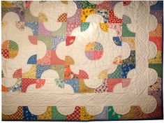 Q is for Quilter » Blog Archive » Oliver's Drunkard's Path Quilt