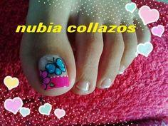 Fingernail Designs, Cool Nail Designs, Toe Nail Art, Toe Nails, Pretty Toes, Pretty Nails, Cute Pedicures, Nails 2017, Painted Toes