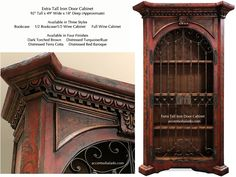 Old World Furniture.. Red Iron Door Cabinet from Accents of Salado. We ship fabulous hand painted furniture nationwide.  :)