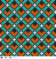 Art Deco Perler Bead Pattern (possible cross stitch pattern? Kandi Patterns, Bead Loom Patterns, Weaving Patterns, Knitting Charts, Knitting Stitches, Knitting Patterns, Cross Stitching, Cross Stitch Embroidery, Cross Stitch Designs