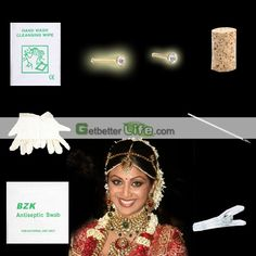 US$1.29 - Sterile Nose Stud Studs Body Piercing Jewelry Needle Tool kit