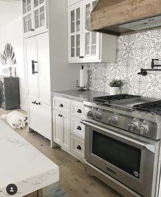 Tile, wood range, pot filler,oil rubbed bronze handles
