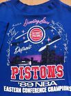 For Sale - Vintage Shirt Detroit Pistons NBA Small Tee Blue Cotton Rare - See More At http://sprtz.us/PistonsEBay