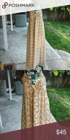 Maxi dress from m Frederick Super nice fit very light just get those cowboy boots and dress it up Frederick's of Hollywood Dresses Maxi