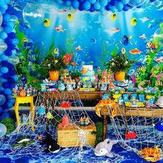 1st Birthday Party Themes, 1st Boy Birthday, Kids Beach Party, Animal Birthday, Lucca, Shark Party, Birthday Party Boys, Lion King Birthday, Ocean Party