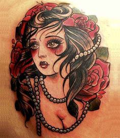 Some women are getting tattoos of themselves like a pin up girl