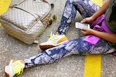 Vola Sportswear Giveaway, Vola Sports Promo Code, Haute Off The Rack, fitness apparel, marble printed leggings, New Balance, Nike Air Pegasus, MZ Wallace,