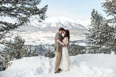 Intimate winter wedding in Breckenridge Colorado