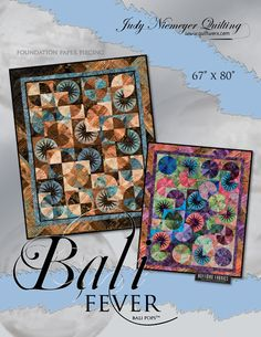 "Bali Fever - Available from Quiltworx.com - A Judy Niemeyer Quilting Company. Shop for more patterns and quilting supplies on store.quiltworx.com.  This pattern makes one 67"" x 80"" quilt, the pattern cost is $30.00."
