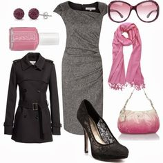Get Inspired by Fashion: Work Outfit | Grey Pink