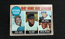1968 Topps 1967 National League Home Run Leaders #5 Hank Aaron, Willy McCovey $2ish - torn right corner
