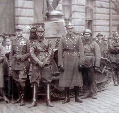 Polish tankers whith theirs tank fought with bolsheviks in 1920 war. Tanks help saved Warsaw and win whole war.