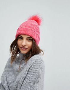 958a4c5edc1 Miss Selfridge Faux Fur Bobble Hat. Fur Bobble HatPink FashionWomens Fashion Pom ...