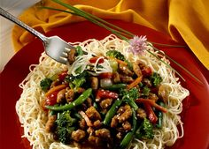 Shanghai Noodles made with Johnsonville Brats