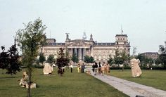 Berlin 1970 Platz der Republik und Berliner Reichstag