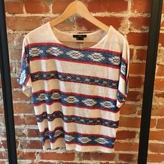Forever 21 Patterned Striped Graphic Tee This shirt is in red, white & blue so it always looks cute during patriotic holidays! Forever 21 Tops Tees - Short Sleeve