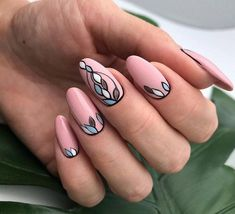 The Best Nail Art Designs – Your Beautiful Nails Long Gel Nails, New Year's Nails, Hair And Nails, Oval Nail Art, Oval Nails, New Years Nail Designs, Nail Art Designs, Nails Design, Nail Design Spring