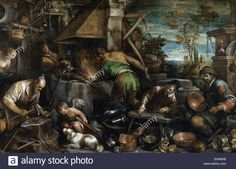Jacopo Bassano : The Forge of Vulcan (Museo Nacional del Prado (Spain - Madrid)) ヤコポ・バッサーノ Greek Mythology Art, Oil On Canvas, Canvas Prints, La Forge, Art Database, Color Of Life, Belle Photo, Great Artists, Art For Sale
