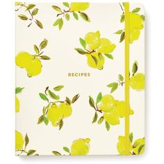 Kate Spade New York Lemon Recipe Book ($34) ❤ liked on Polyvore featuring home, kitchen & dining, cookbooks, books, fillers, extras, lemon, notebooks, cook-book and kate spade
