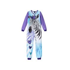 Girls Jelli Fish Animal Fleece One-Piece Pajamas, Size: XS, Lt Purple