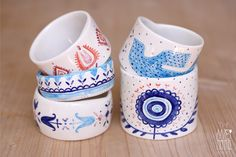 ZURZUR porcelain bangles  porcelain+underglazes