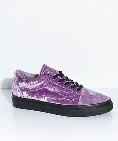 a30f13c9c1b Vans Old Skool Velvet Sea Fog   Black Skate Shoes