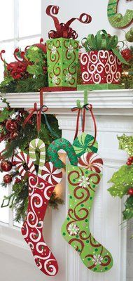 love the red and green--- the red stocking holder is what C.J. and I have!!! Love it!
