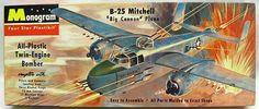 Monogram 1/70 B-25 Mitchell - Four Star Issue, P7-98 plastic model kit
