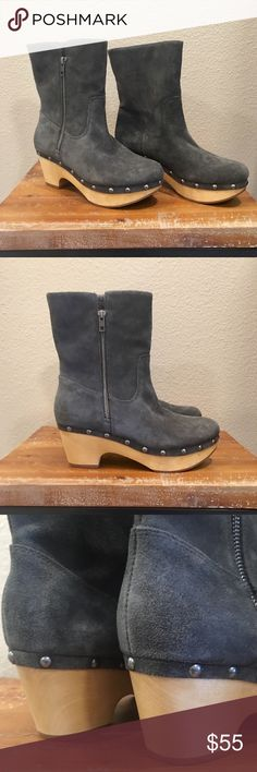 """💥BOGO 1/2 OFF💥 Corso Como Suede Platform Boot NWOB. Never worn! Just bought my size without trying on and they run a half size small. Says 7.5 but they will fit a 7. These are currently available tainting from $69 to over $200!!! Not here🤑  Suede, Rubber sole, Shaft measures approximately 7.5"""" from arch, Heel measures approximately 2"""", Platform measures approximately 1.25 inches, Boot opening measures approximately 11"""" around, 2"""" heel,  1"""" platform, Comfort pu foam and gel insert in heel…"""