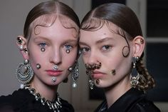 Givenchy Fall 2015 Face Jewelry - Pat McGrath