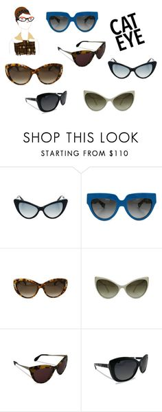 """""""Cat Eye"""" by alexissuitcase on Polyvore featuring Prada, Tom Ford, Alexander McQueen, Miu Miu and Burberry"""