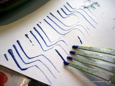 Cool - no paint brush allowed, and some great printmaking ideas. Love the fork!
