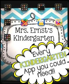 A comprehensive list of apps you can use for kindergarten review in your classroom!